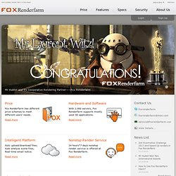 Render Farm - Cloud Render Farm with 2,000 Render Nodes | Fox Render Farm