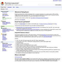 flying-saucer - XML/XHTML and CSS 2.1 renderer in pure Java