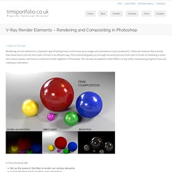 V-Ray Render Elements – Rendering and Compositing in Photoshop