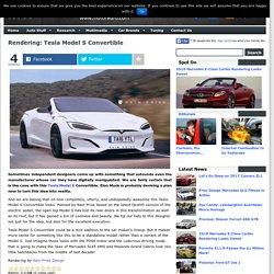 Rendering: Tesla Model S Convertible - Motorward