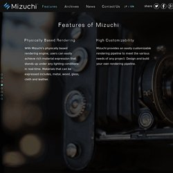 The Real-time Rendering Engine - Mizuchi - Silicon Studio