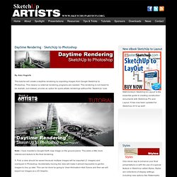 Daytime Rendering – SketchUp to Photoshop