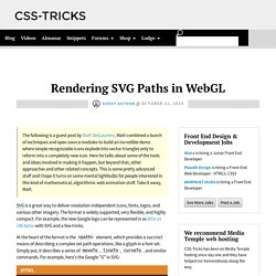 Rendering SVG Paths in WebGL