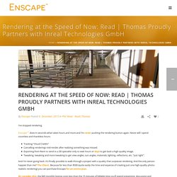 Thomas Proudly Partners with Inreal Technologies GmbH - Enscape3d