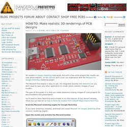 HOW-TO: Make realistic 3D renderings of PCB designs