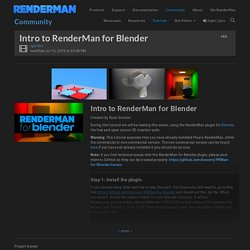 Intro to RenderMan for Blender - RenderMan Community