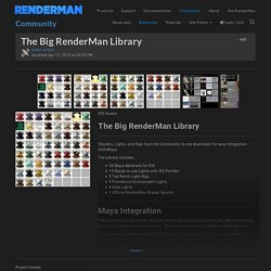The Big RenderMan Library - RenderMan Community
