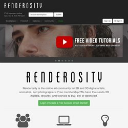 Renderosity - 3D Models, 3D Content, 3D Software, and 3D Art