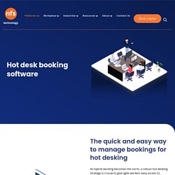 Hot desk booking software - Rendezvous workspace technology