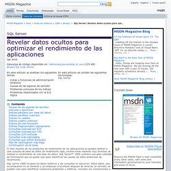 SQLServer: Revelar datos ocultos para optimizar el rendimiento de las aplicaciones