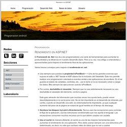 Rendimiento en ASP.NET - TuProgramacion.com