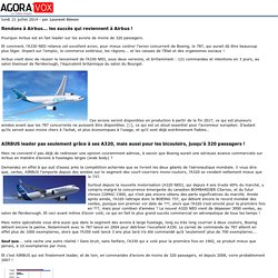 Rendons à Airbus... les succès qui reviennent à Airbus!
