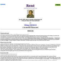 René le Jeu de Rôle Romantique