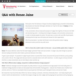 Q&A with Renee Jaine - Volunteering New Zealand