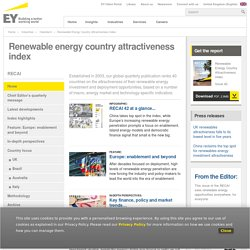 Renewable Energy Attractiveness Indices