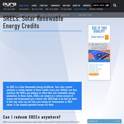 SRECs: Solar Renewable Energy Credits - Pure Energies