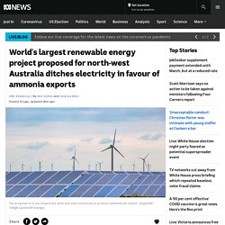World's largest renewable energy project proposed for north-west Australia ditches electricity in favour of ammonia exports - ABC News