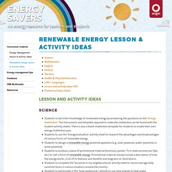 Renewable energy lesson & activity ideas - Origin Energy - Origin Energy