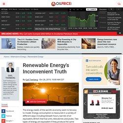 Renewable Energy's Inconvenient Truth