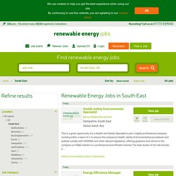 Renewable Energy Jobs in South East