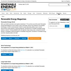 Renewable Energy Magazines