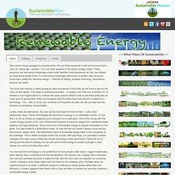 Renewable Energy - Sustainable Man