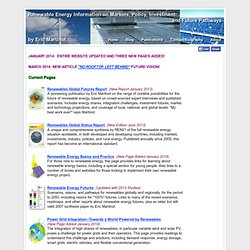 Renewable Energy Information by Eric Martinot