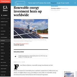 Renewable energy investment heats up worldwide