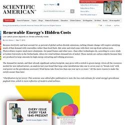 Renewable Energy's Hidden Costs