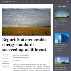 Report: State renewable energy standards succeeding, at little cost