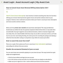 How to Cancel Avast Auto Renewal Billing Subscription 2021