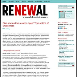Rise now and be a nation again? The politics of Englishness