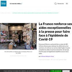 La France renforce ses aides exceptionnelles à la presse pour faire face à l'épidémie de Covid-19