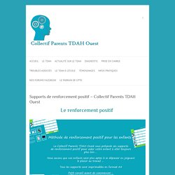Supports de renforcement positif - Collectif Parents TDAH Ouest