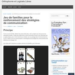 Jeu de familles pour le renforcement des stratégies de communication