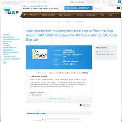 Renforcement du dispositif de Contrôle Interne avec SAP GRC Access Control au sein du Groupe Sercel