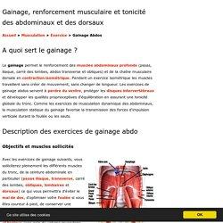 Gainage et renforcement musculaire
