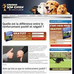 Le renforcement positif et négatif - Blog éducation canine - Méthode
