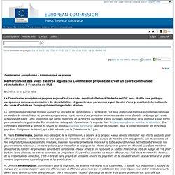 La Commission propose de créer un cadre commun de réinstallation à l'échelle de l'UE