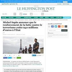 Michel Sapin annonce que le renforcement de la lutte contre le terrorisme coûte 940 millions d'euros à l'État