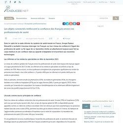 Les objets connectés renforcent la confiance des français envers les professionnels de santé
