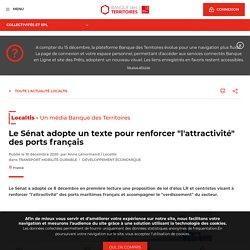 """Le Sénat adopte un texte pour renforcer """"l'attractivité"""" des ports français"""