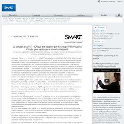 La solution SMART – iObeya est adoptée par le Groupe PSA Peugeot Citroën pour renforcer le travail collaboratif