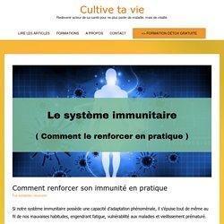 Comment renforcer son immunité en pratique - Cultive ta vie