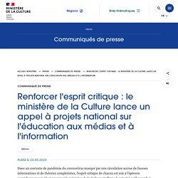 Renforcer l'esprit critique : le ministère de la Culture lance un appel à projets national sur l'éducation aux médias et à l'information