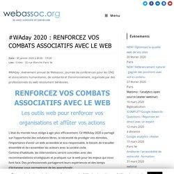 WAday 2020 : Renforcez vos combats associatifs avec le web
