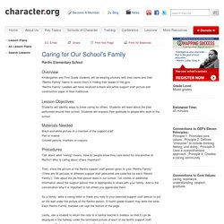 Caring for Our School's Family (Mixed Grades)
