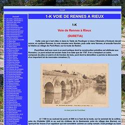1-K VOIE DE RENNES A RIEUX - Les voies romaines en Ille-et-Vilaine