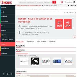 Rennes - Salon du lycéen et de l'étudiant, du 07 au 09 jan. 2021