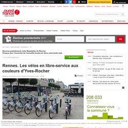 Rennes. Les vélos en libre-service aux couleurs d'Yves-Rocher